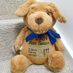 Personalised Dog Cubbie Teddy